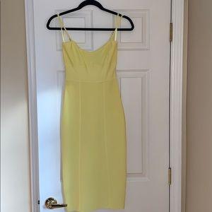 BCBG Maxazaria Yellow Bodycon Dress Size S